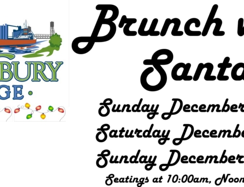 Join Us at Tewksbury for Brunch with Santa Sunday December 9th, Saturday December 15th Sunday December 16th 2018